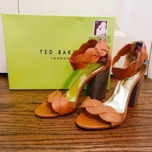 Ted Baker Remola Tan Leather Block Heel